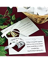 Acquisition 100 Silver Metal Kissing Bell Wedding Kiss Poem Reception Favor Table Decor Lot opportunity