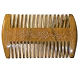Beard Comb - Natural Organic Sandal Wood Comb for Hair Anti-static Pocket Comb with Scented Fragrance Smell,perfect for Beard & Moustache