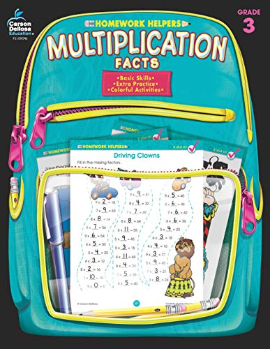 - Multiplication Facts Homework Helper, Grade 3