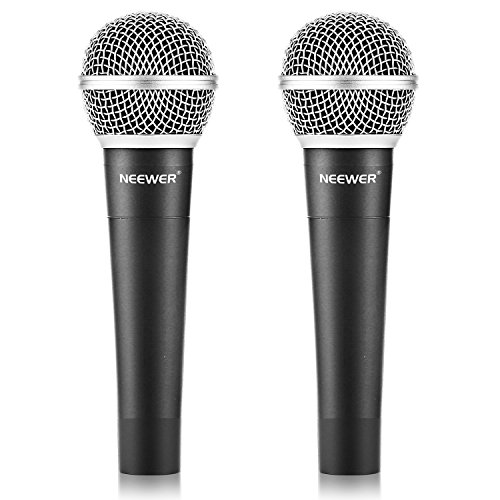 Neewer® Zinc Alloy Black Professional Moving Coil Handheld Dynamic Microphone for Kareoke,Stage,Home Studio Recording ,with 1/4