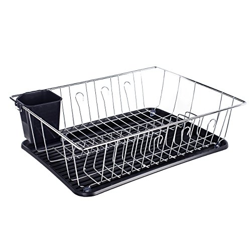 ADDMIRRE Black Drainer Board Kitchen Sink Dish Drying Rack,N