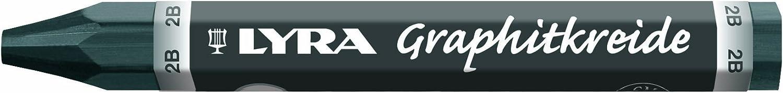 Lyra Crayons de graphite duret/é 6B non solubles Assortis//non soluble dans leau set of 24 coloris assortis