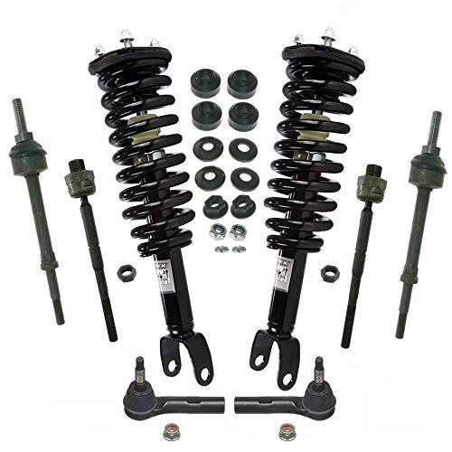 Prime Choice Auto Parts SUSPKG10191 Front Set of Complete Strut Assemblies & Sway Bars and Tie Rods (Strut Tie Bar Set)