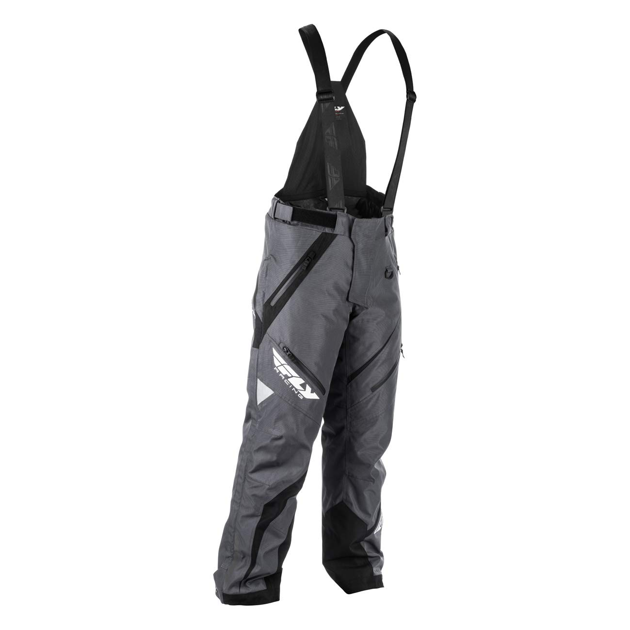 Large Black//Gray Fly Racing F19 SNX Pro Insulated Tall Mens Snowmobile Pants