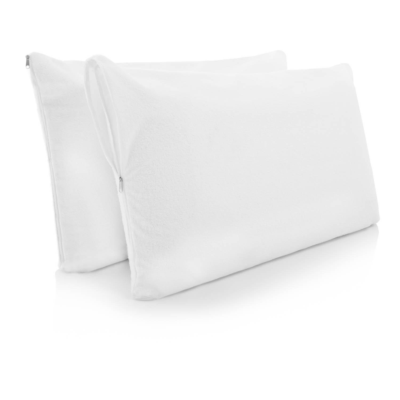 Lucid Premium Hypoallergenic 100-Percent Waterproof Pillow Protector, 15 Year Warranty, Vinyl Free, King Size, Set of 2 CVB Inc LS00KKPP