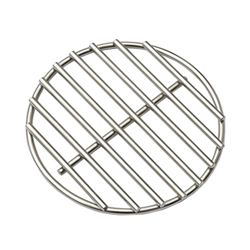 BBQ High Heat Stainless Steel Charcoal Fire Grate Fits for Medium Big Green Egg Fire Grate and Kamado Joe Grill Parts Charcoal Grate Replacement Accessories(6 1/2'')