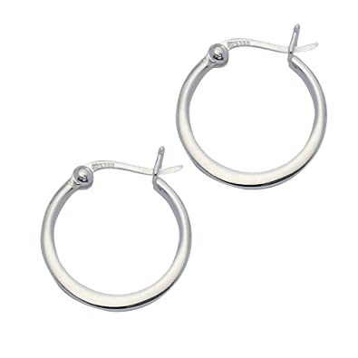 Adara Silver Oval Flat Hoop Earrings 1y6Ht