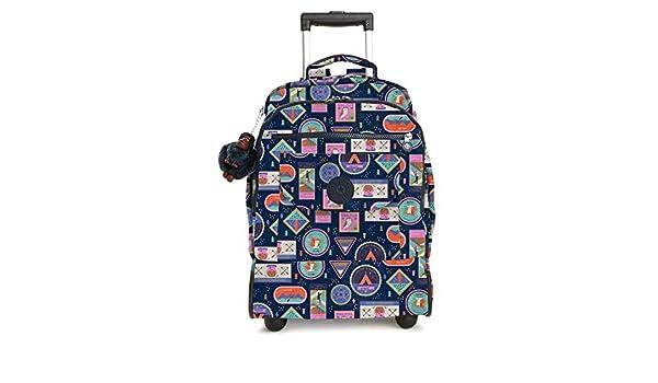 Amazon.com: Kipling Sanaa Large Printed Rolling Backpack Wandering Roads: Shoes