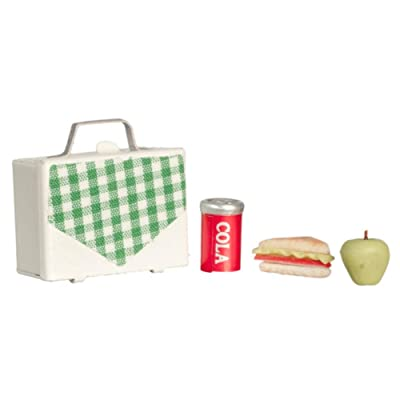 Dollhouse Miniature 1:12 Scale Lunch Box with Food and Drink: Toys & Games