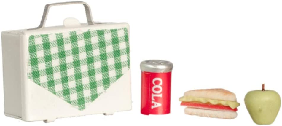 Dollhouse Miniature 1:12 Scale Lunch Box with Food and Drink