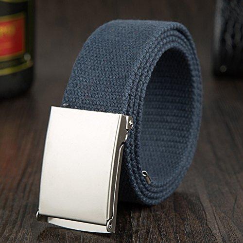 ishine cinturones hombre elasticos Moda Mujer Cinturones de Lona con Metal  Hebilla para Pantalones Durable Modelando 10e7b3091507