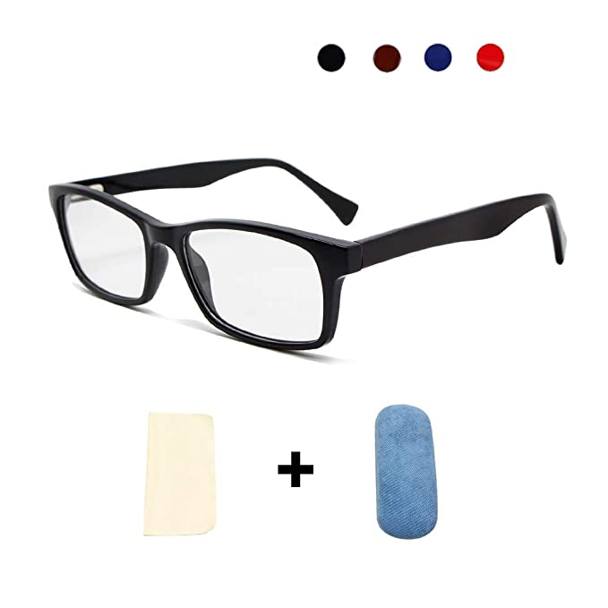 f77b9afdcb Coolais Unisex Eyewear Frame Women Eyeglasses Non-Prescription Optical  Eyewear Frame for Men with Clear