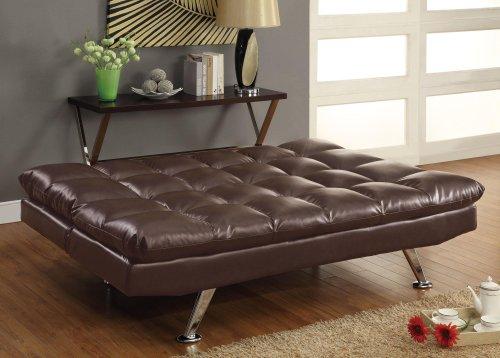 coaster-sofa-bed-dark-brown