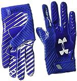 Under Armour Men's Spotlight Football Gloves,Royal (401)/White, Small/Medium