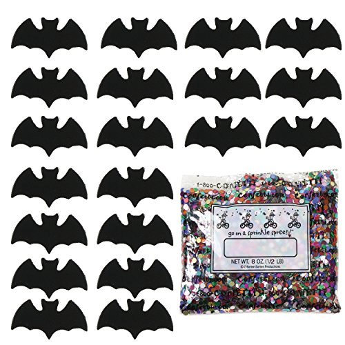 Confetti Bat Black - One Pound Bag (16 oz) FREE SHIPPING --- (9385)