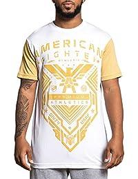 Men's Stanfield Tee Shirt White/Khaki
