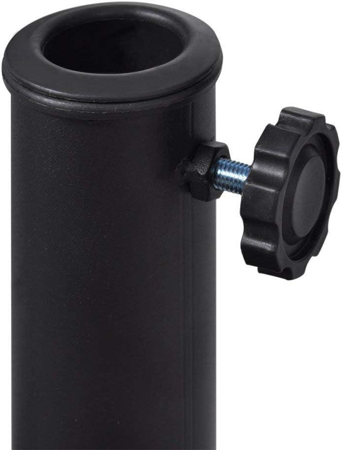 mewmewcat Half Round Parasol Stand 500 x 330mm Resin Steel Black