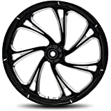 """RC Components Trigger Eclipse 21"""" Front and Rear Wheel Tire Package for 2000-2007 Harley-Davidson Touring models - RCWP-07-TRIGGER-E"""