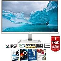 HP 25er 25-in IPS LED Backlit Monitor 1920 x 1080 T3M84AA#ABA + Elite Suite 17 Standard Software Bundle (Corel WordPerfect, Winzip, PDF Fusion,X9) + 1 Year Extended Warranty
