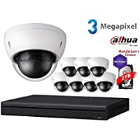 Dahua 3MP NVR Security Package: 8CH NVR2108HS-8P-S2 w/2TB Security Hard Drive+ (8) 3MP Outdoor IR HDBW1320 2.8MM Dome (NO LOGO Original Housing Local Support)