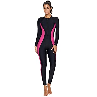 f27f7ba9f19 Amazon.com: Surfing Wetsuits for Women WANQUIY Women Full Wetsuits Swimming  Diving Snorkeling Scuba Suit Jumpsuit: Clothing