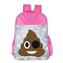 Pirate Poop Cute Emoji Poop Girls Boys School Backpack Bag School Bags RoyalBlue For 4-15 Age