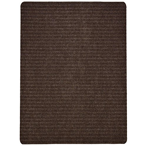 Olefin Mat - Stair Treads Collection Indoor Skid Slip Resistant Carpet Stair Tread Mat (Brown, Matching Mat 24 in x 30 in)