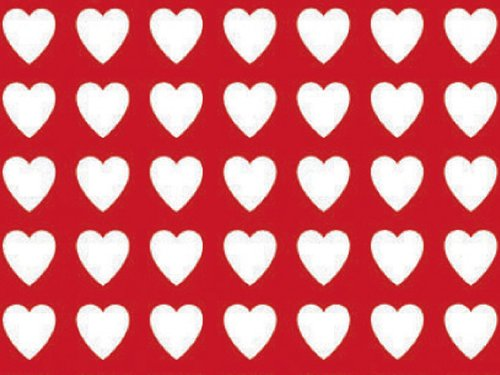 Amazon Com Red Heart Pattern Gift Wrapping Roll 24 X 15