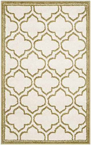 Safavieh Amherst Collection AMT412A Ivory and Light Green Indoor/ Outdoor Area Rug (2'6