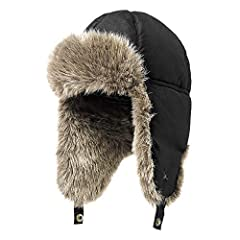 Water-repellent acrylic/polyester shell sheds moisture, and the Premium Down insulation keeps your head warm. Ear flaps are lined with soft, faux fur.