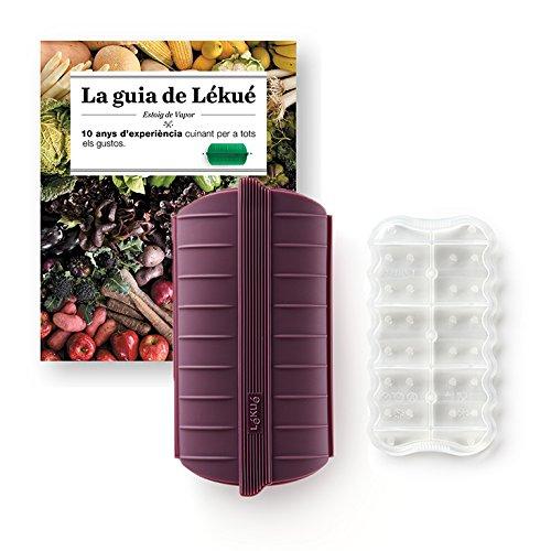 Lekue - Estuche de vapor, Con bandeja y libro en Catalán, Berenjena, 1 - 2 personas (650 ml): Amazon.es: Hogar
