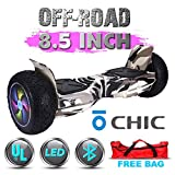 Chic UL 2272 Certified 8.5' All Terrain Offroad Hoverboard Smart Balance Scooter LED with Bluetooth Free Bag Black Camo Color HB-Z13-BLACKCAMO1