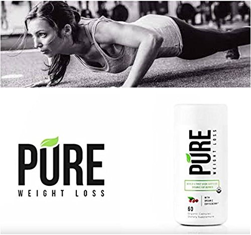 PURE WEIGHT LOSS USDA Organic Thermogenic Fat Burner-Clean Effective Powerful Diet Supplement- Burn More Calories, Boost Metabolism, Mood, Energy+Focus -100% Organic,Vegan, Gluten Free, NonGMO