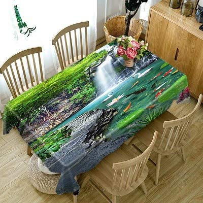 Purple Lilac Flower Pattern 3D Tablecloth Dustproof Tablecloth Wedding Banquet Decoration Table Cloth Household Items  Color 9 B07SLZWWKQ