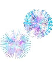 NUOBESTY 2 Stuks Opknoping Iriserende Decoraties Iriserende Honingraat Bal Folie Plafond Opknoping Bloemen Voor Bruiloft Verjaardagsfeestje Baby Bruids Douche
