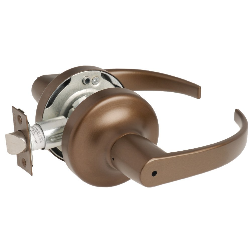 613E Grade 2 Privacy//Bed//Bath Yale Security PB 5302LN 613E 2-3//4 Backset Dark Oxidized Satin Bronze Bronze//Steel//Zinc//Stainless Steel Yale Security Inc