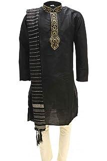 Sonisha MKP9008 Green and Ivory Mens Kurta Pyjama Indian Suit Bollywood Sherwani