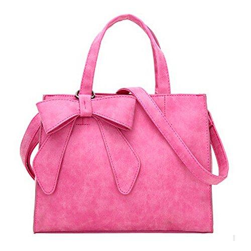 Borse Spalla Donna Grandi, Mambain Borse A Mano Moda Eleganti Casual Tote Tinta Unita Borsetta Per Shopper Bag Con Nodo Della Farfalla Borsa In PU Pelle D