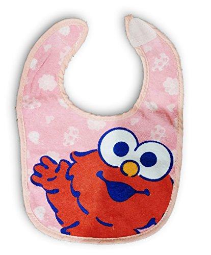 Sesame Street Elmo Pink Terry Bib for Baby Toddler Girl 0+ Months