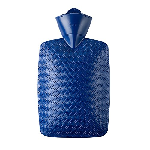 Hugo Frosch 1.8L Classic Hot Water Bottle Highest Quality - Made in Germany (Blue) by Hugo Frosch