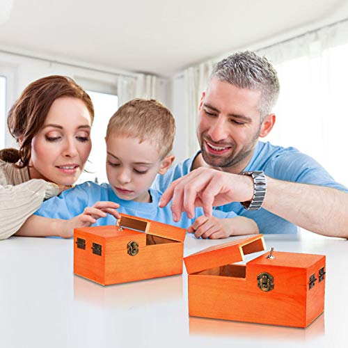Calary Useless Box Turns Itself Off in Box Alone Machine Fully Assembled in Box (Brown)