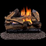Duluth Forge Vent Free Dual Fuel Gas Log Set - 18 in. Split Red Oak - Remote Control
