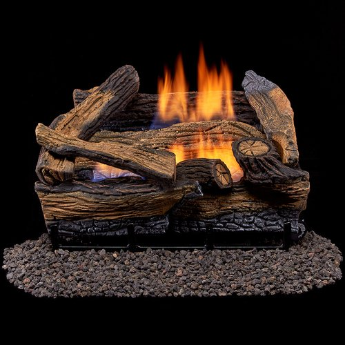 ee Dual Fuel Gas Log Set - 18 in. Split Red Oak - Remote Control (Gas Log Btu)