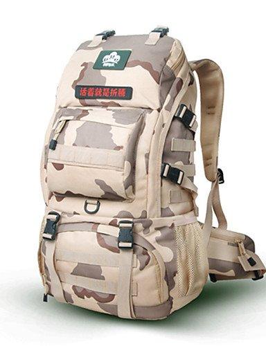 ZQ Tourenrucksäcke / Radfahren Rucksack / Travel Organizer ( Gelb / Schwarz / Armeegrün / Camouflage , 50 L) Wasserdicht / Schnell