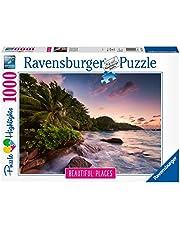 Ravensburger Pussel 15156 – ön Praslin Seychellen – 1 000 bitar pussel för vuxna och barn från 14 år, pussel med landskapsmotiv
