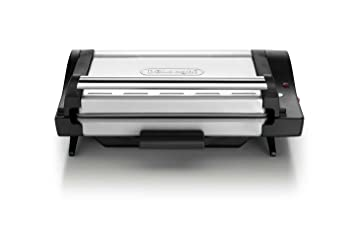 BK Grill de contacto, posición barbacoa, bandeja extraíble, 1600 W, color negro y plata: Amazon.es: Hogar