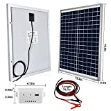 ECO-WORTHY 20 Watts 12V Solar Panel Kit: Waterproof 20W Solar Panel + 3A USB Port Charge Controller + 6 FEET Isolated Battery Clips