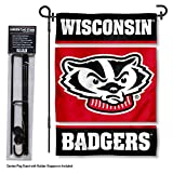 College Flags and Banners Co. Wisconsin Badgers Garden Flag with Stand Holder