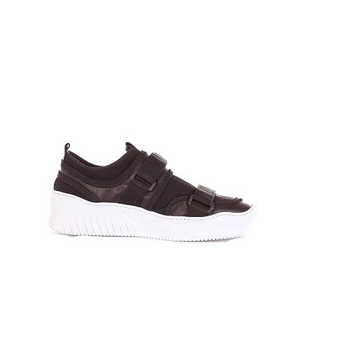 N°21 Hombre N328BLACK Negro Cuero Zapatillas: Amazon.es: Zapatos y complementos