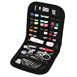 Sewing Box Kit set with over 100 Accessories (colors Threads, for emergency at Home, in the office & Travel Trips, Beginner Mini Sew Kit (Multi clour)
